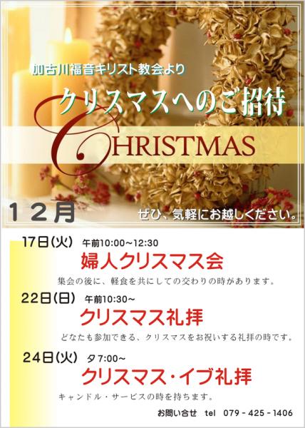 クリスマスのご案内2013